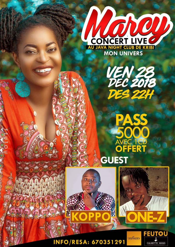 MERCY EN CONCERT AU JAVA NIGHT CLUB DE KRIBI LE 28 DÉCEMBRE 2018