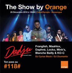 THE SHOW BY ORANGE - CONCERT AVEC DADJU LE 29 DÉCEMBRE 2018