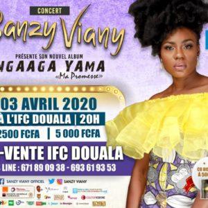 Affiche concert Sanzy viany Douala