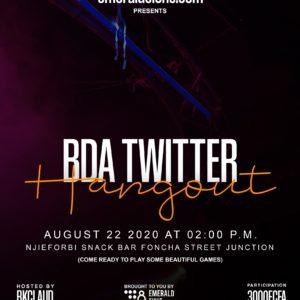 BDA Twitter Hangout le 22 Aout 2020 au Njieforbi Snack Bar, Bamenda.