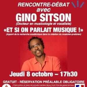 affiche rencontre debat IFC douala avec Gino Sitson