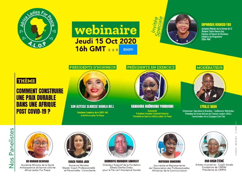 Webinaire Africa Ladies For Peace