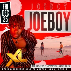 Joeboy au XL Night CLub à Douala